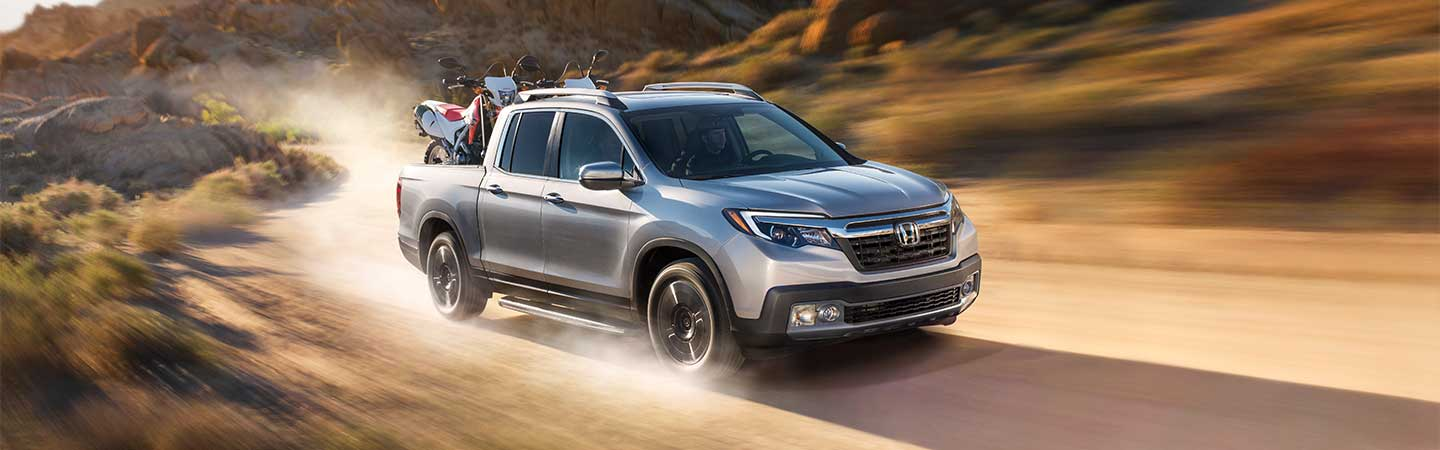 2020 Honda Ridgeline Driving on dirt road