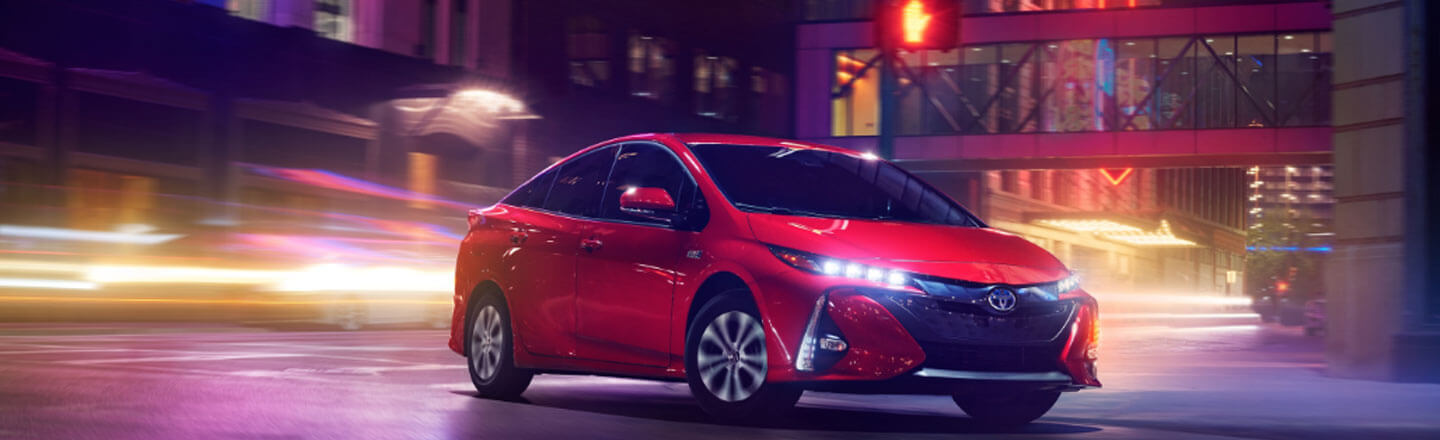 2020 Toyota Prius Prime at Night
