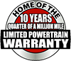 10 years quarter of a million mile limited powertrain warranty