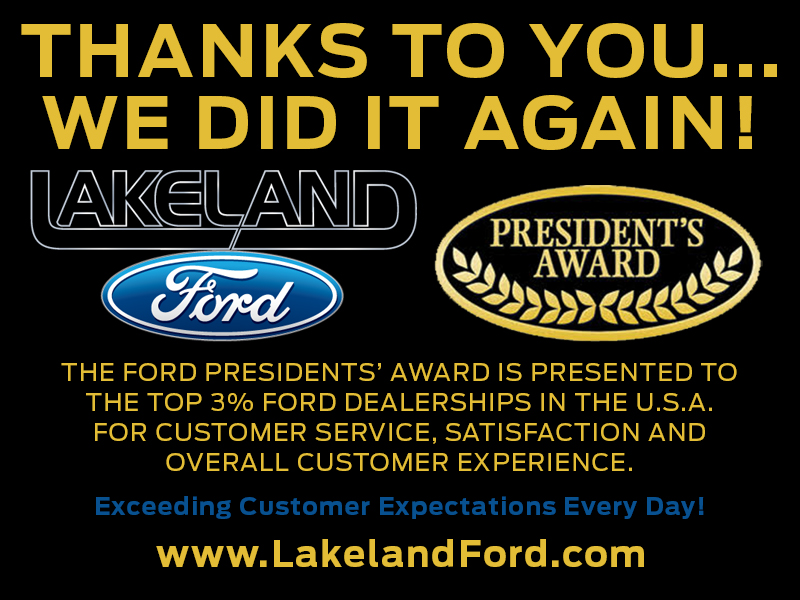 Lakeland Ford | Proud Winner of the 2018 Presidents Award