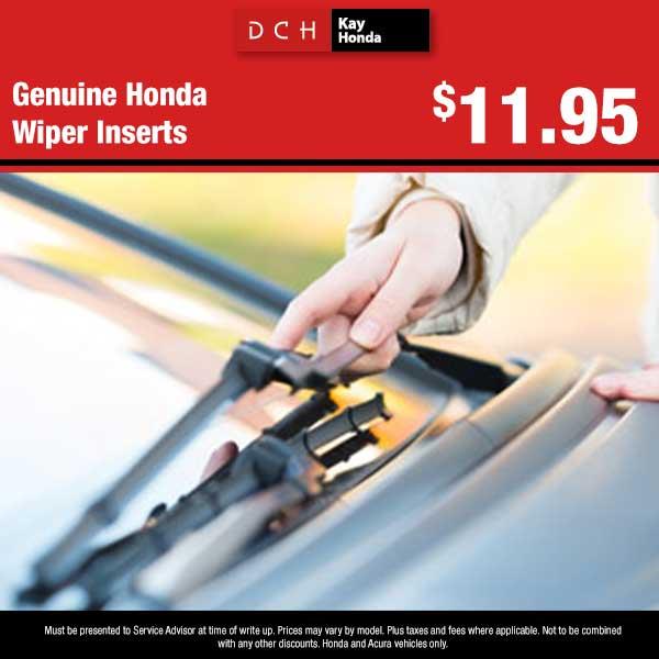 Genuine Honda Wiper Inserts