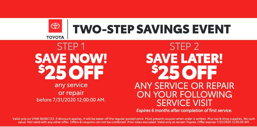 2 Step Savings Event