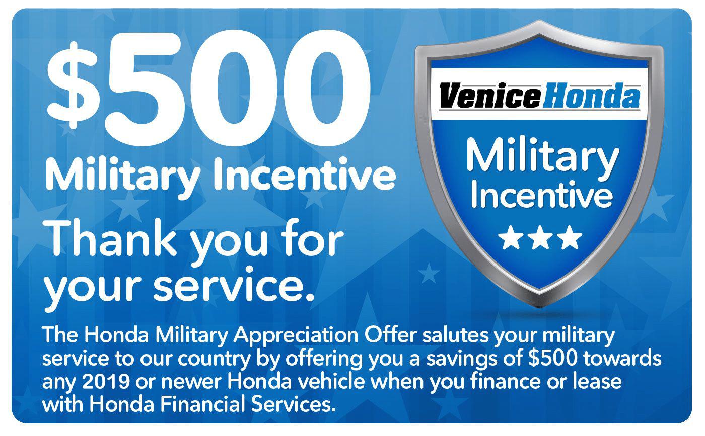 Honda Military Incentive