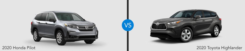 2020 Honda Pilot vs. 2020 Toyota Highlander in Highland Park, Illinois