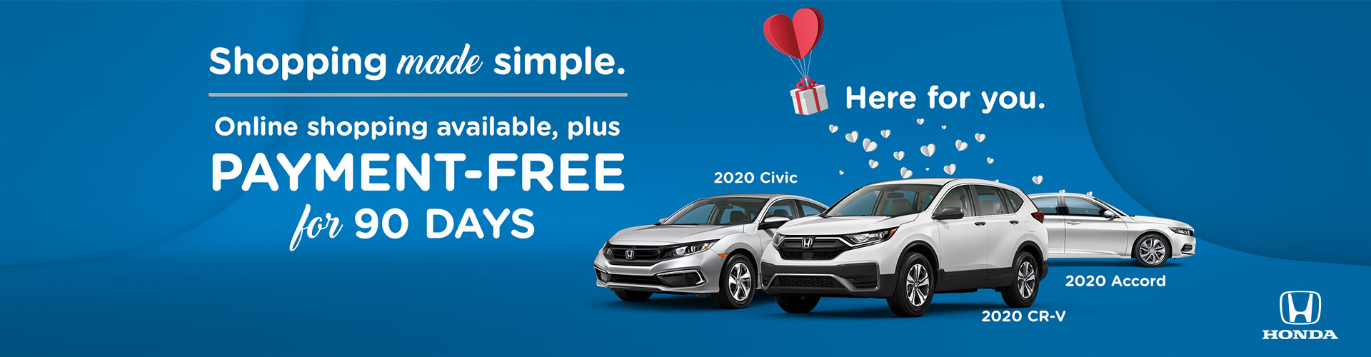 Payment Free for 90 days on all new Hondas