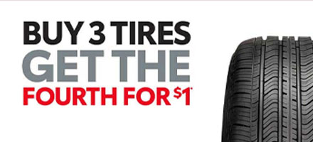 Get 4th Tire for $1