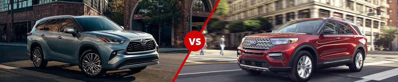 Compare Toyota Highlander Vs. Ford Explorer SUV Near Fowler, IL