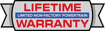 Limited non-factory powertrain Lifetime Warranty