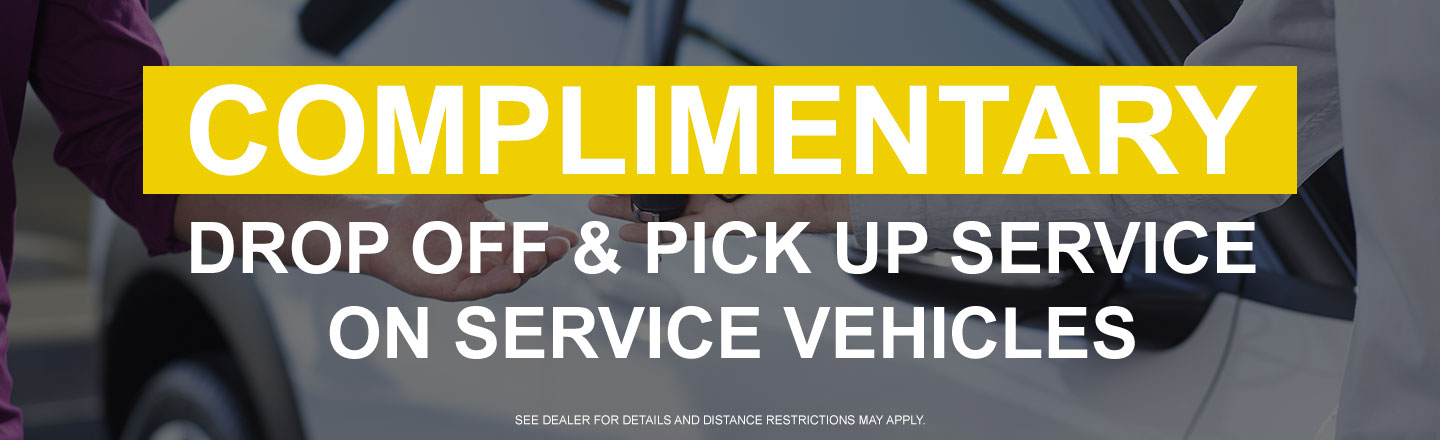 Complimentary Drop Off & Pick Up Service on S