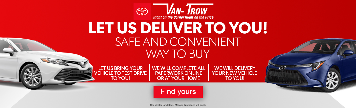 Let Us Deliver to you