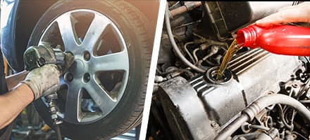 Oil and Filter Change With Tire Rotation