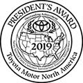 presidents award 2019 toyota motor north america