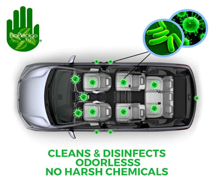 cleans and disinfects odorless no harsh chemicals
