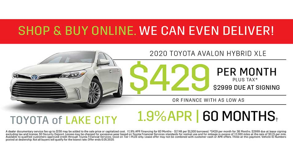 toyota avalon hybrid offer