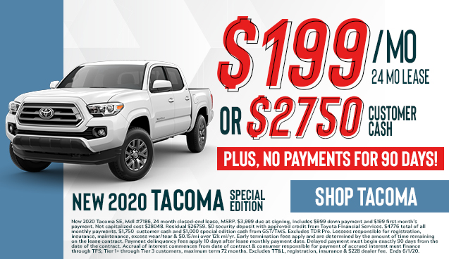 2020 Tacoma Special Edition Sale