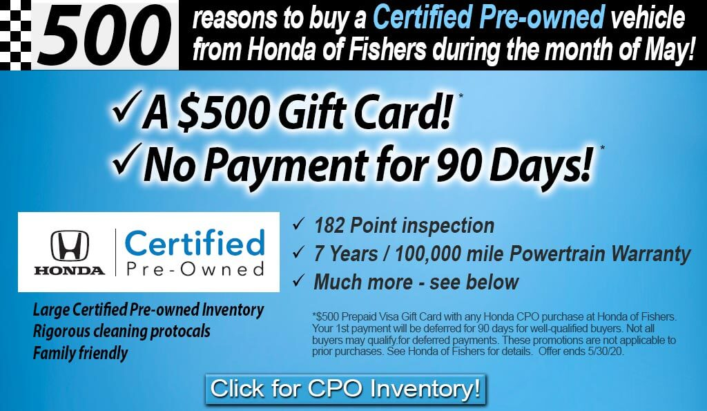 Certified Pre-Owned Special May Offer