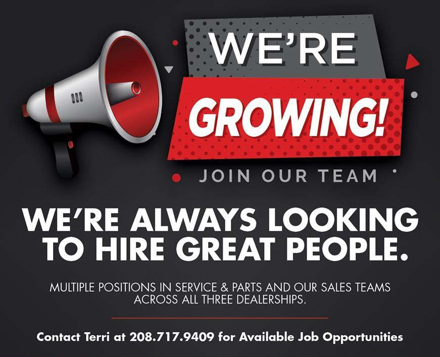 we are always looking to hire great people.