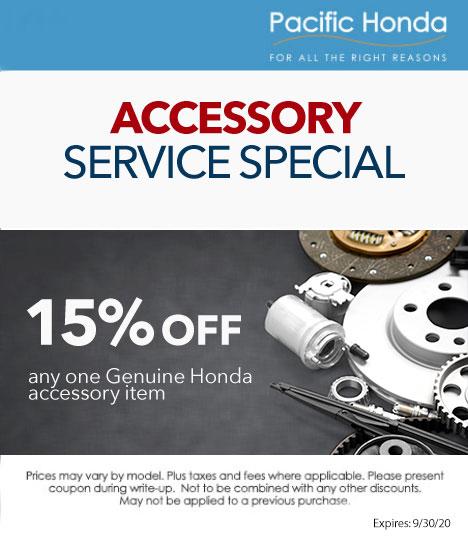 Honda Accessories Special