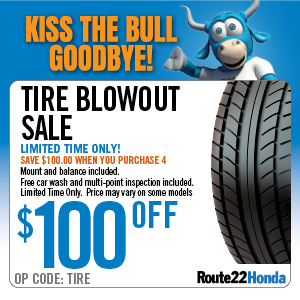 Tire Blowout Sale - $100 OFF