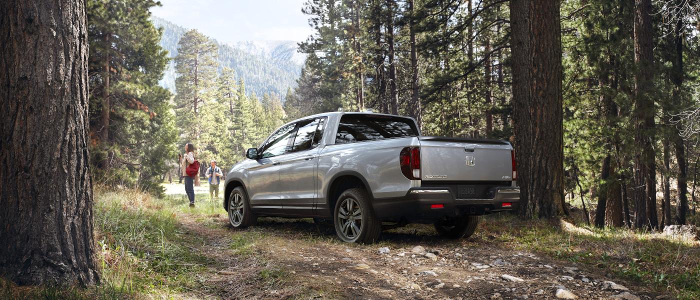 2020 Honda Ridgeline in woods