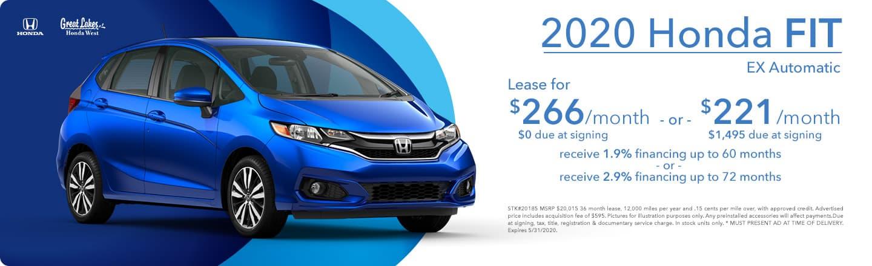 2020 Honda Fit EX Auto