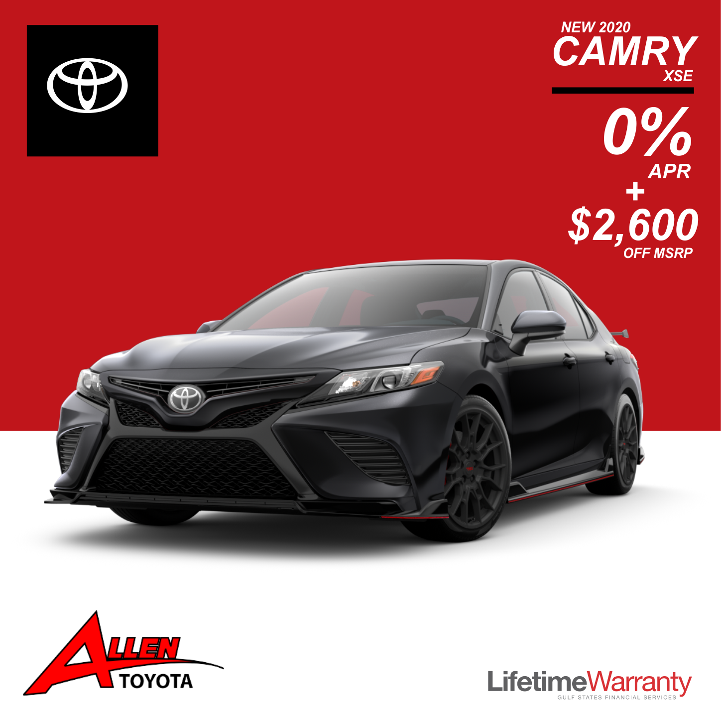 New 2020 Camry XSE Save $2,600 Plus 0%