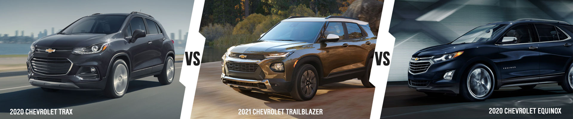 Chevy SUV Comparison: 2020 Chevrolet Trax Vs 2021 Chevrolet Trailblazer Vs 2020 Chevrolet Equinox