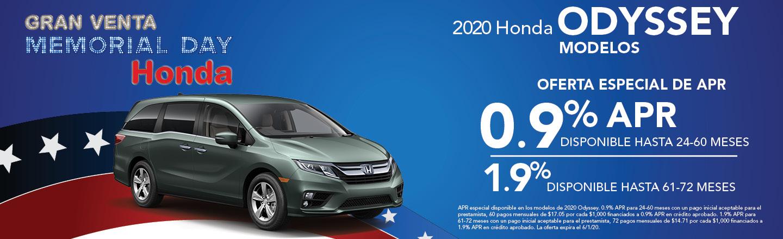 2019 Honda Odyssey Modelos