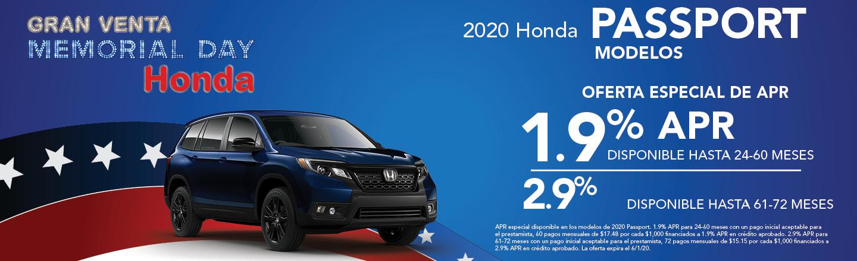 2020 Honda Passport Modelos