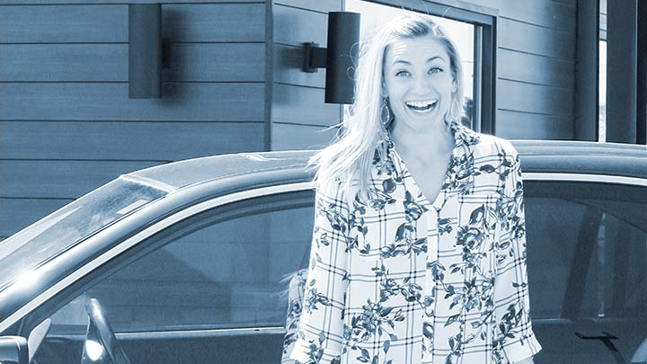 Crystal, a salesperson at Maverick is excited about the free lease program