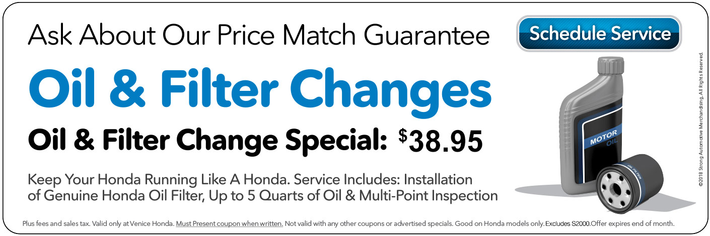 Honda Oil Change at Venice Honda in Venice Florida