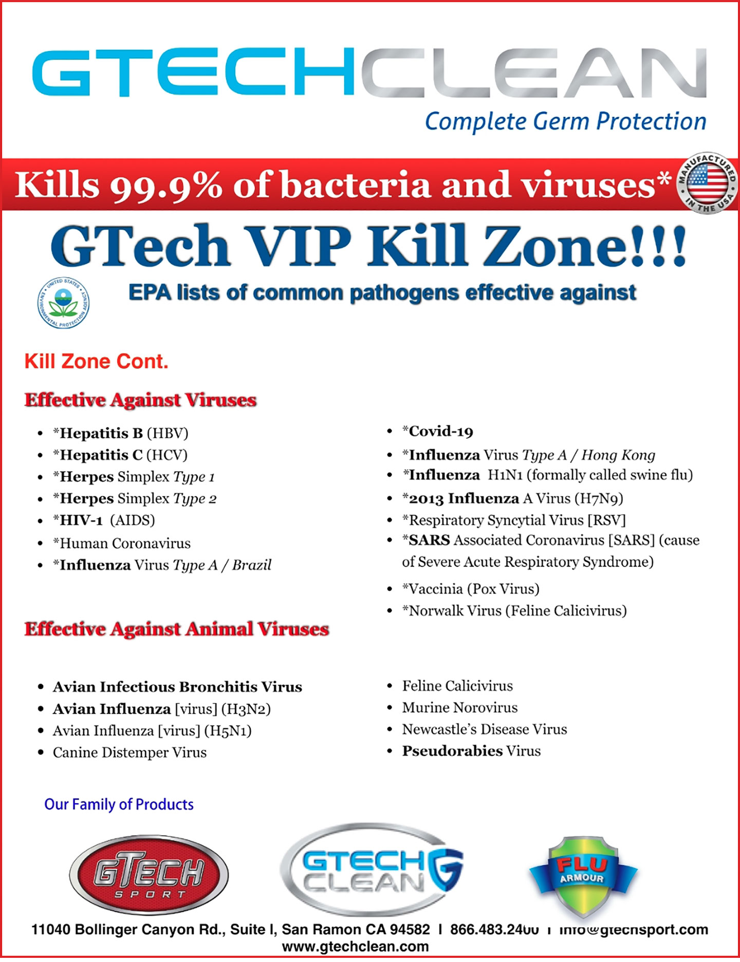 GTECH CLEAN Complete Germ Protection