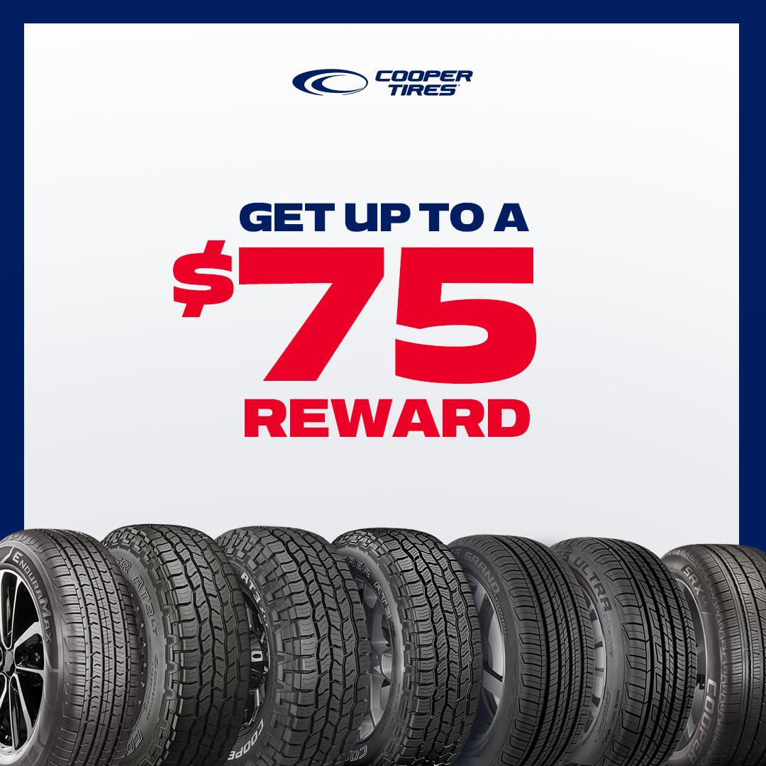 Cooper Tires $75 Reward!