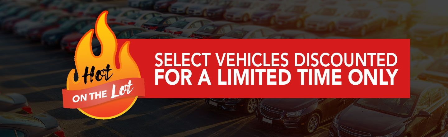 hot on the lot, discounted vehicles