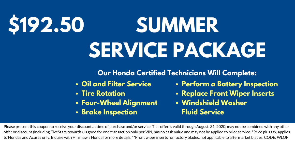 Summer Service Package