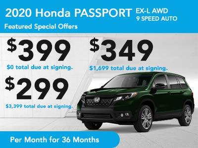 2020 Passport EX-L AWD