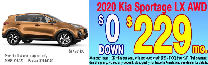 Kia Sportage Inventory