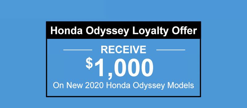 2020 Honda Odyssey Loyalty Offer