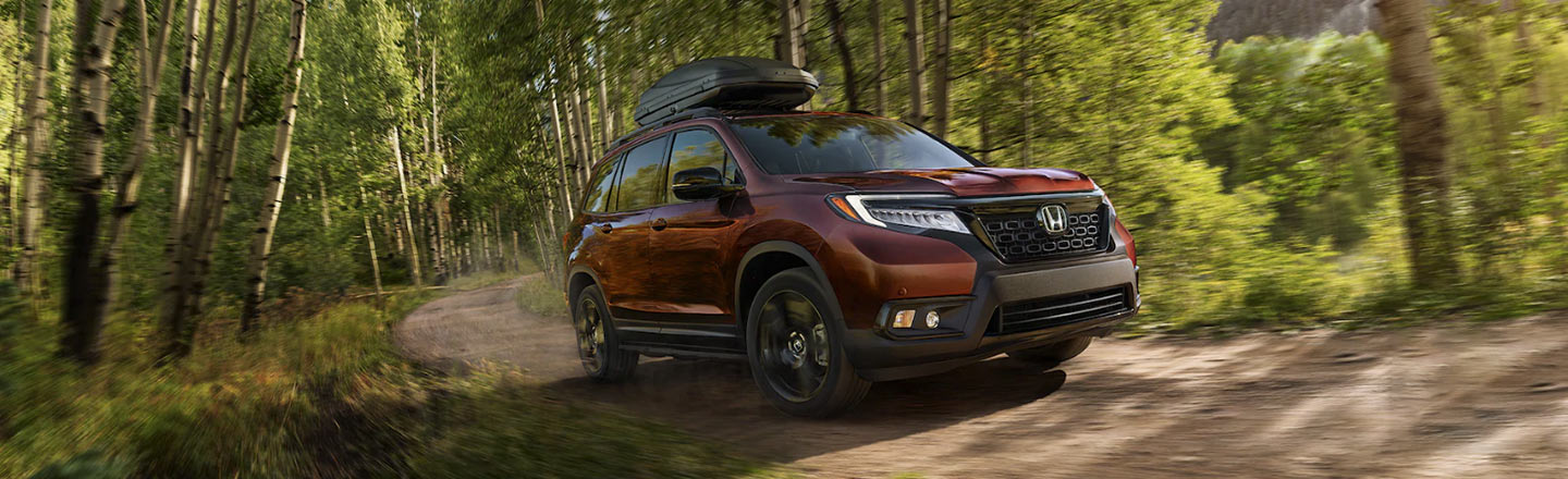 2020 Honda Passport at campsite