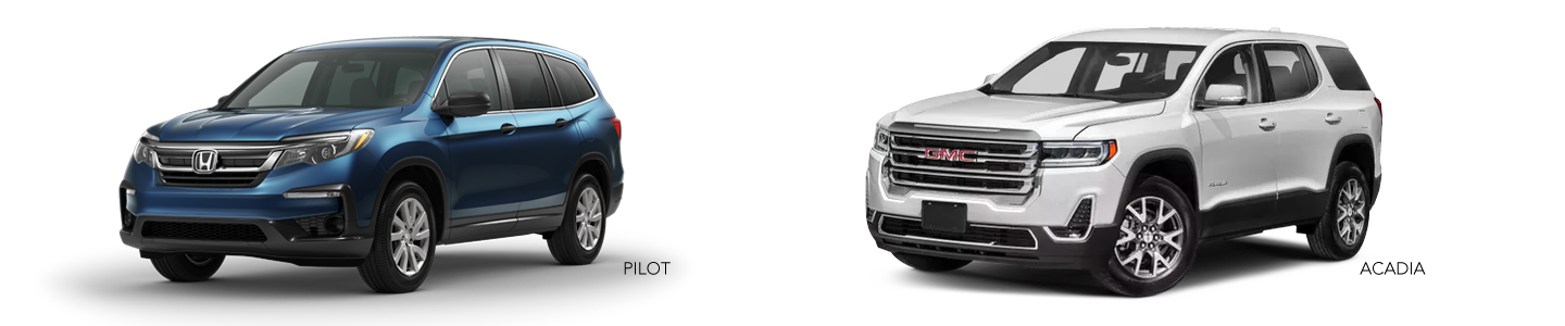 2020 Honda Pilot Compared To The GMC Acadia In Little Rock
