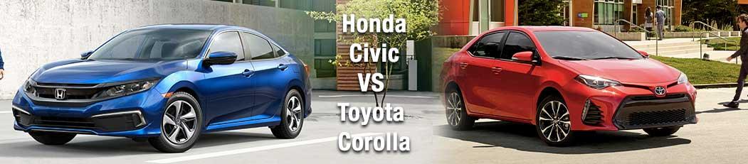 2019 Honda Civic vs Toyota Corolla
