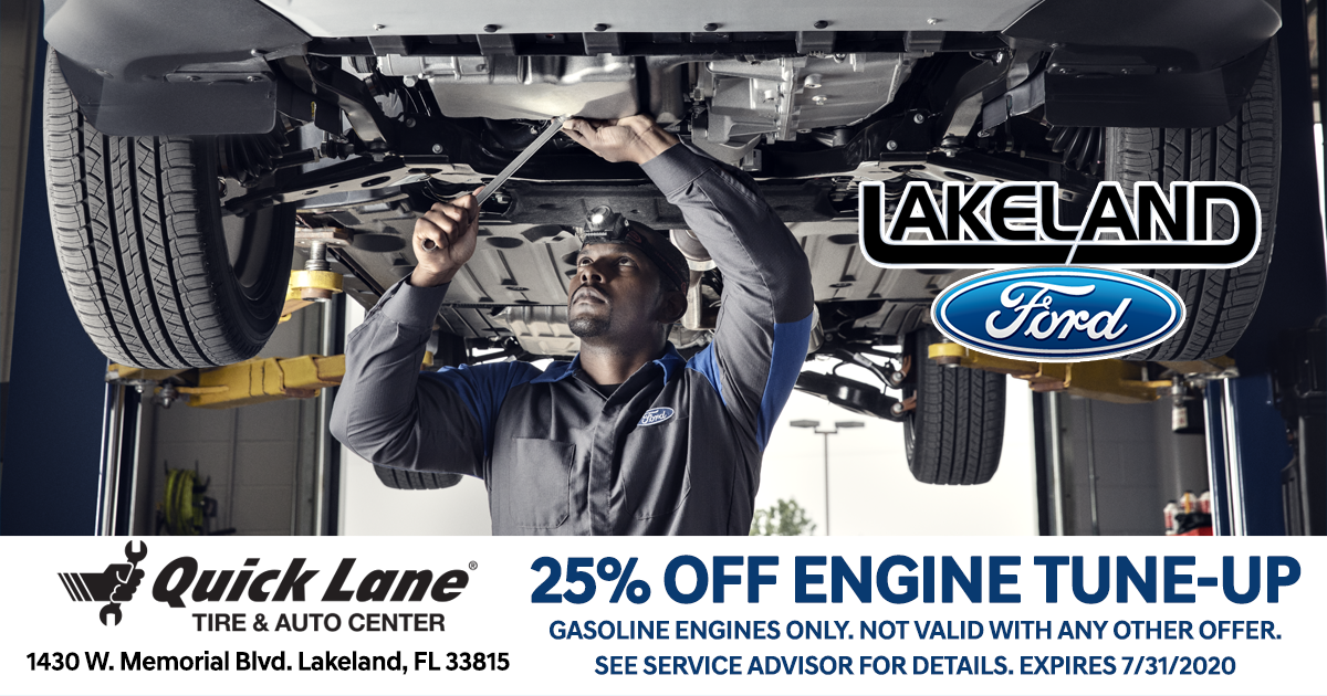 25% Off Engine Tune-up at Lakeland Ford