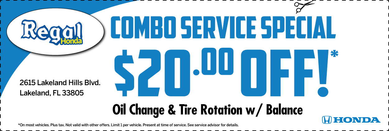 Oil Change & Tire Rotation Combo Special