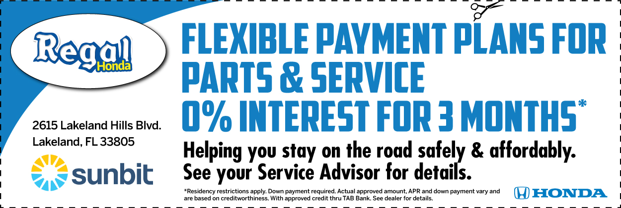 Flexible Payment Plans for Parts & Service