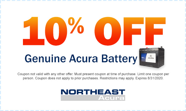 10% Off Genuine Acura Battery