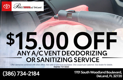 A/C Vent Deodorizing or Sanitizing