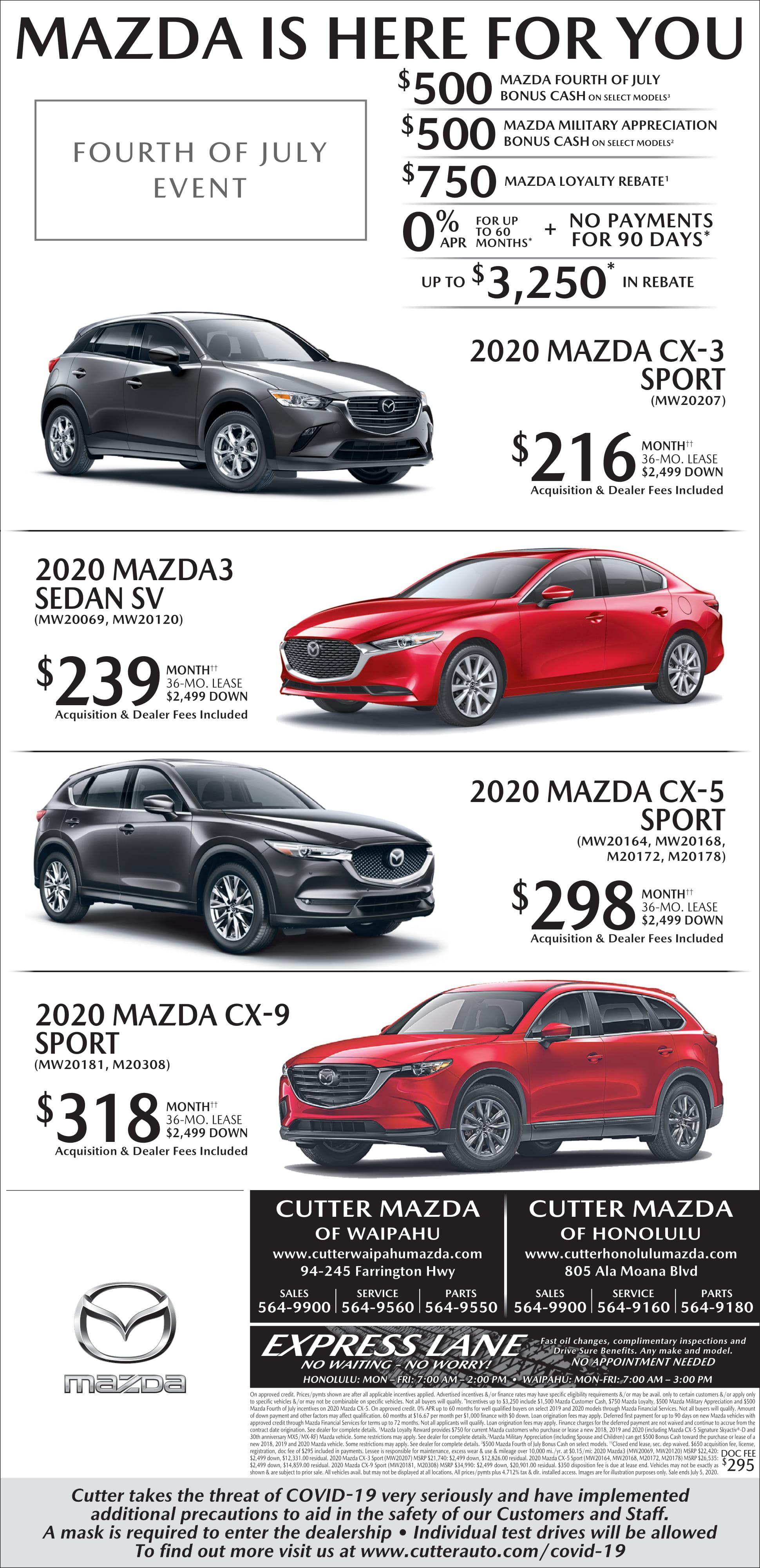 Mazda Weekend Ad