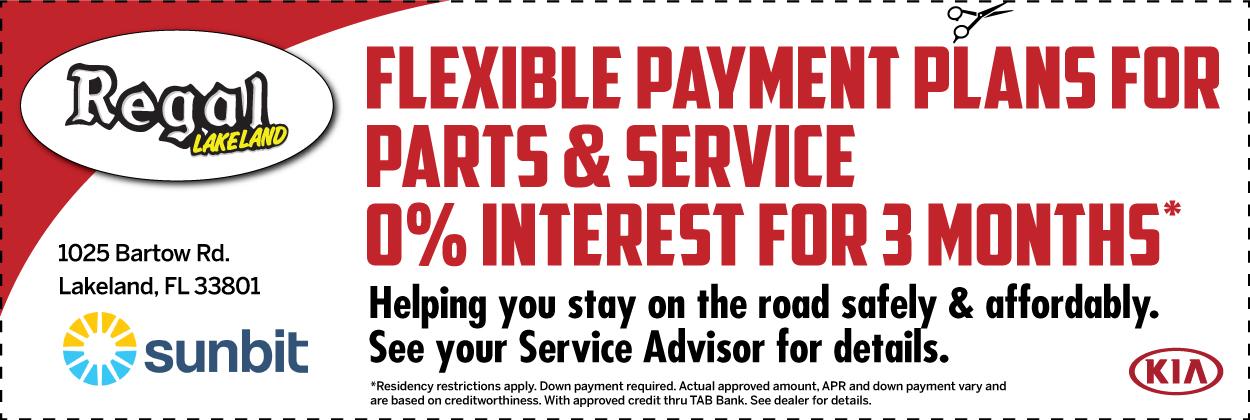 Flexible Payment Plans for Parts & Service