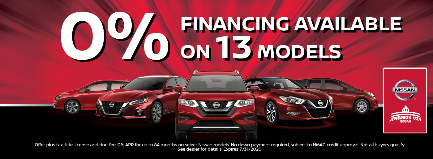 0% for 84 Months Nissan of Jefferson City