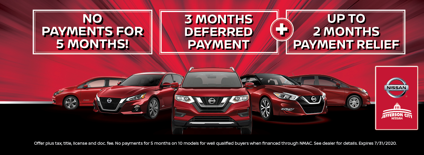 No Payments for 90 Days Nissan of Jefferson City